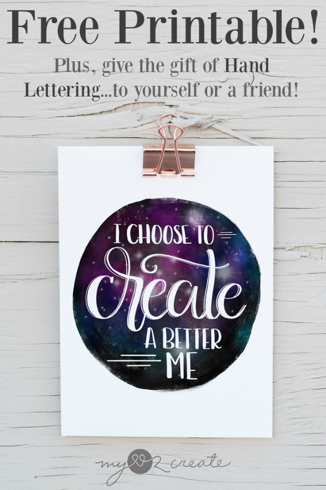 Learn how to do Hand Lettering like a pro, plus enjoy this inspiring FREE hand lettered printable, MyLove2Create