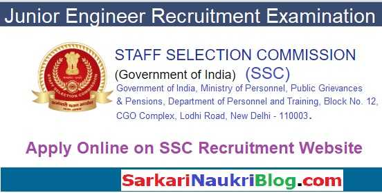SSC Jr. Engineer Recruitment Examination