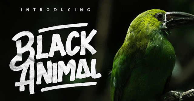 الخــط المميز لكل مصمم  font black animal