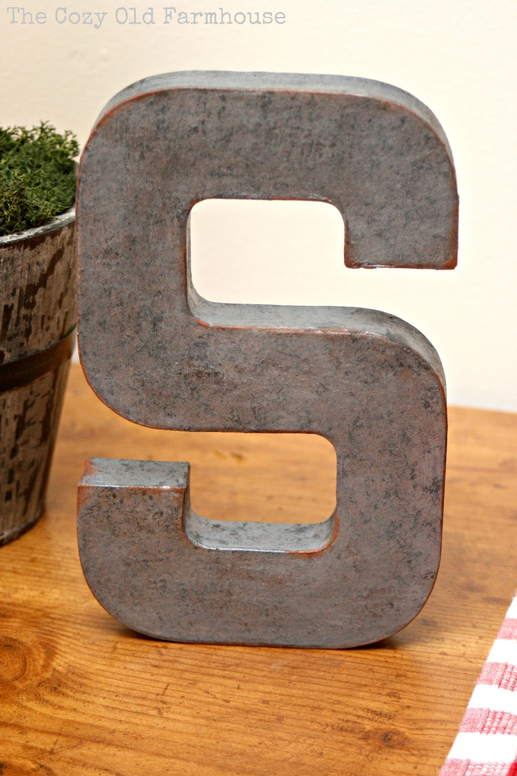 "Galvanized Letters For Sale The Cozy Old ""farmhouse"" Diy Faux Metal Industrial Letters"
