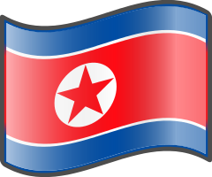 North Korea Flag — WikiProject Nuvola, in the public domain