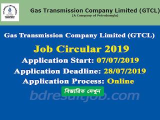 Gas Transmission Company Limited Job Circular 2019