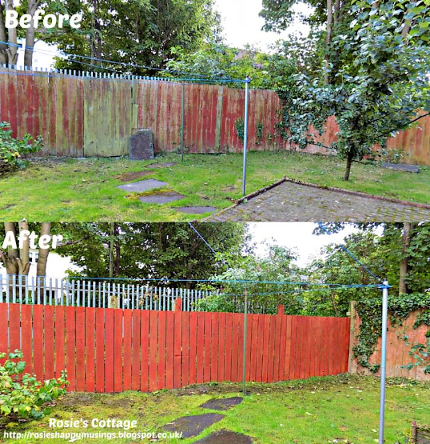 Back garden fencing replaced
