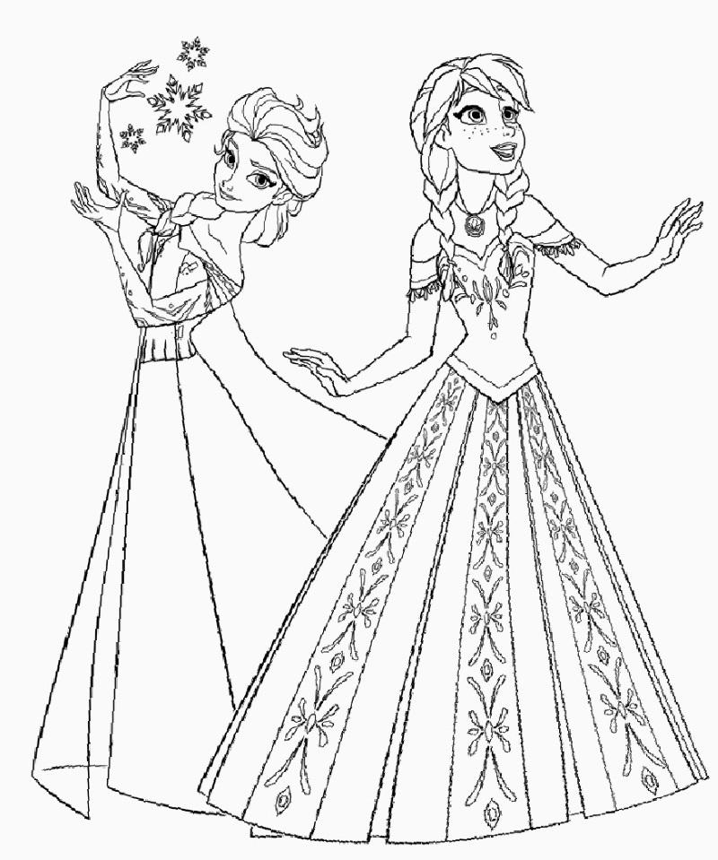 Yeni çocuk Boyamaları En Güzel Elsa Boyamaları