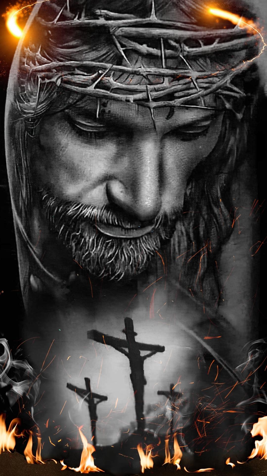 jesus crucified mobile wallpaper