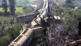 32 قتيلاً وعشرات المصابين جرّاء حادث تصادم قطارين في سوهاج