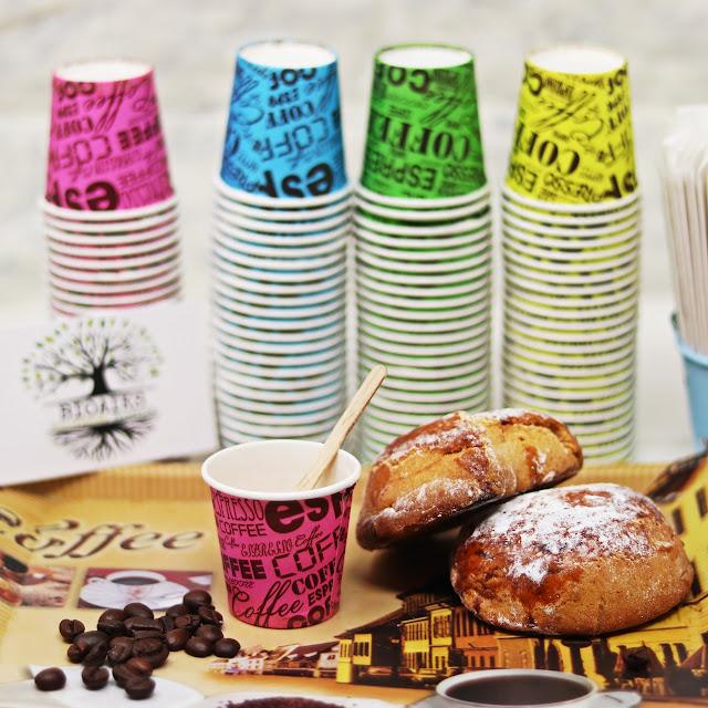 Bioaiks - Bicchierini da caffè biodegradabili