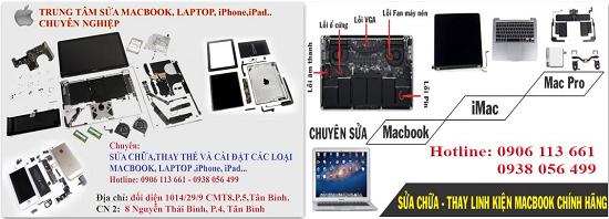 Chuyên sửa chữa macbook pro..... Cung cấp linh kiện Macbook chính hãng, Apple