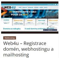 Web4u – Registrace domén, webhostingu a mailhosting - AzaŽurnál