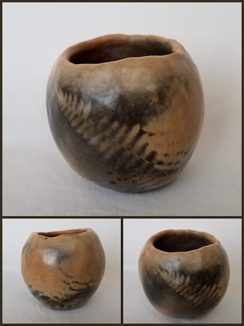 Saggar Pit-Fired Vase