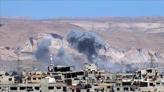 Khianati Kesepakatan, Militer Syiah Suriah Bombardir Kota Bagian Zona De-Eskalasi
