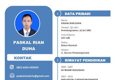 Download CV Lamaran Kerja Kreatif  Gratis Yang di SUkai HRD | Format Docx (WORD)