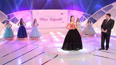 As participantes do Miss Infantil (Crédito: Lourival Ribeiro/SBT)