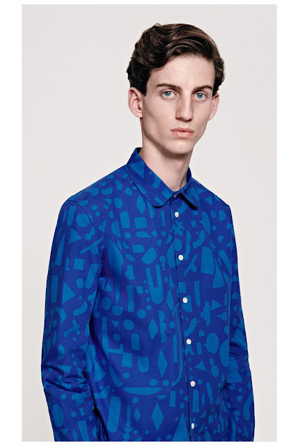 Jijibaba blue patterned shirt