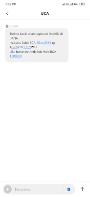 Cara Mudah Mengaktifkan OneKlik BCA dari Aplikasi Dana Android