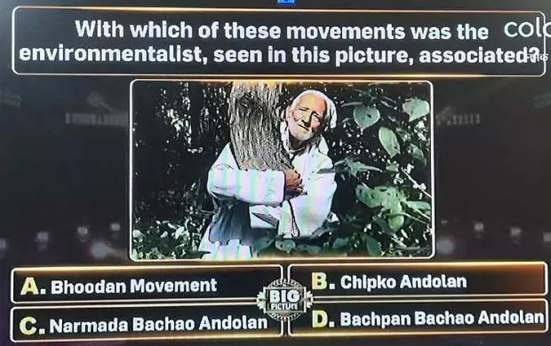 With which of these movements was the environmentalist, seen in this picture, associated?