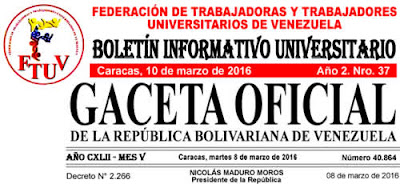 Boletin Informativo FTUV N° 37