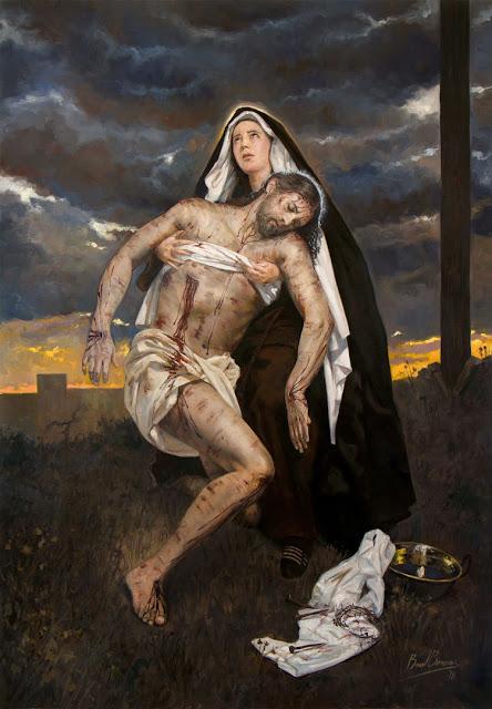 XIII Estação da Via-Sacra - Jesus é decido da cruz e entregue a sua Mãe