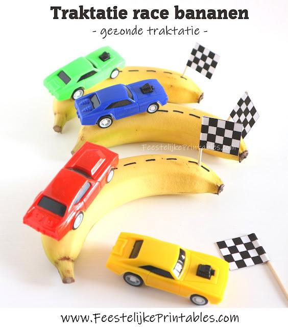 gezonde traktatie met banaan
