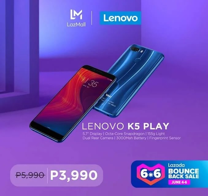 Lenovo K5 Play with 5.7-inch HD+ Display, SD430 Chip, 3GB RAM Arrives in PH for Only Php3,990