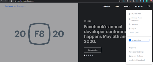 Create an App on Facebook Developer console