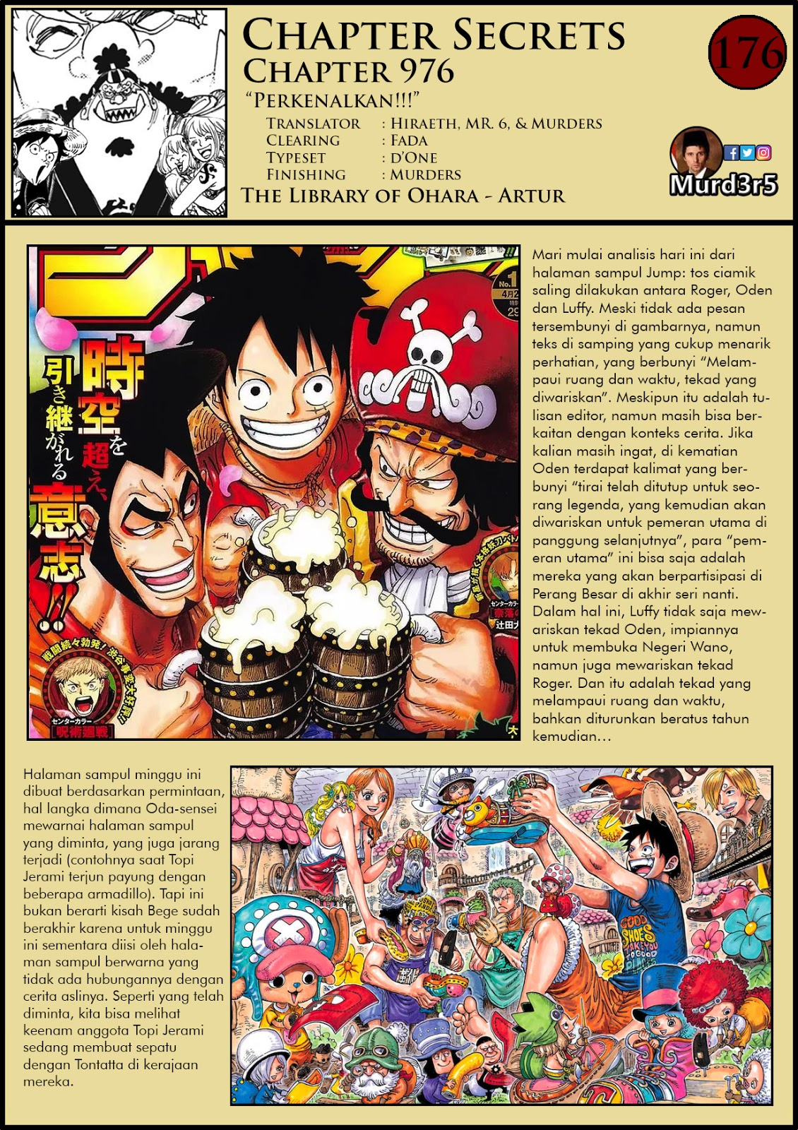 One Piece 976 Bahasa Indonesia : piece, bahasa, indonesia, Piece, Chapter, Secret, Bahasa, Indonesia, Murders, First, Murderers