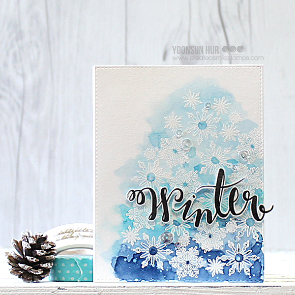 Create a smile: Simple Watercolor Christmas Card