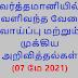 வர்த்தமானி (07 மே 2021)