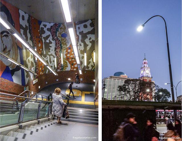 Estação de Metrô Las Heras e Torre Monumental, Buenos Aires, Argentina