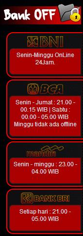 jadwal bank offline agen sbobet