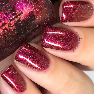 girly bits cosmetics red sky at night swatches october 2018 colour of the month