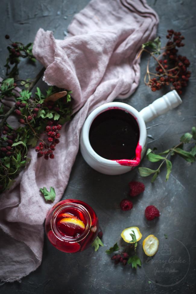 cytryny w syropie malinowym do herbaty na przeziębienie