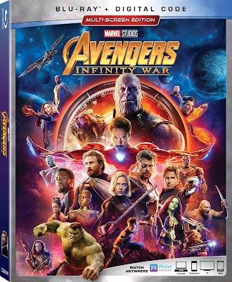 Avengers Infinity War Movie on DVD