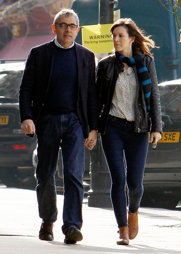Rowan Atkinson 60 And Girlfriend Louise Ford 32 Enjoy