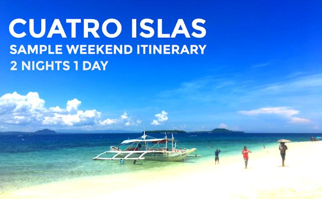 Cuatro Islas Sample Weekend Itinerary 2N1D