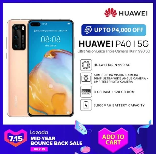 Deal Alert: Huawei P40 5G Will Be On Sale for Only Php32,990!