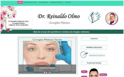 Criação de Site Cliente Reinaldo Olmo Cirurgião Plástico Vila Velha ES