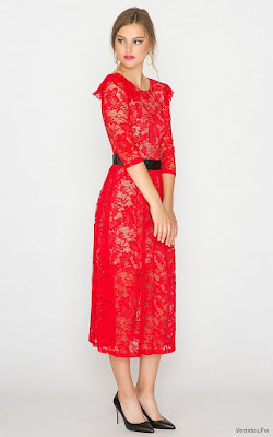 Vestidos Rojos de Encaje