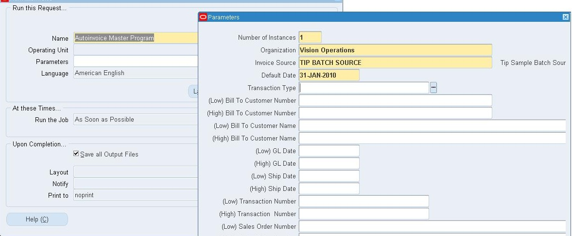 Autoinvoice Setup for R12 | Oracle Techno & Functional
