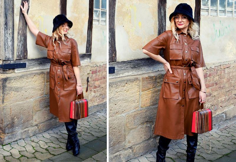 lederkleid-braun-styling