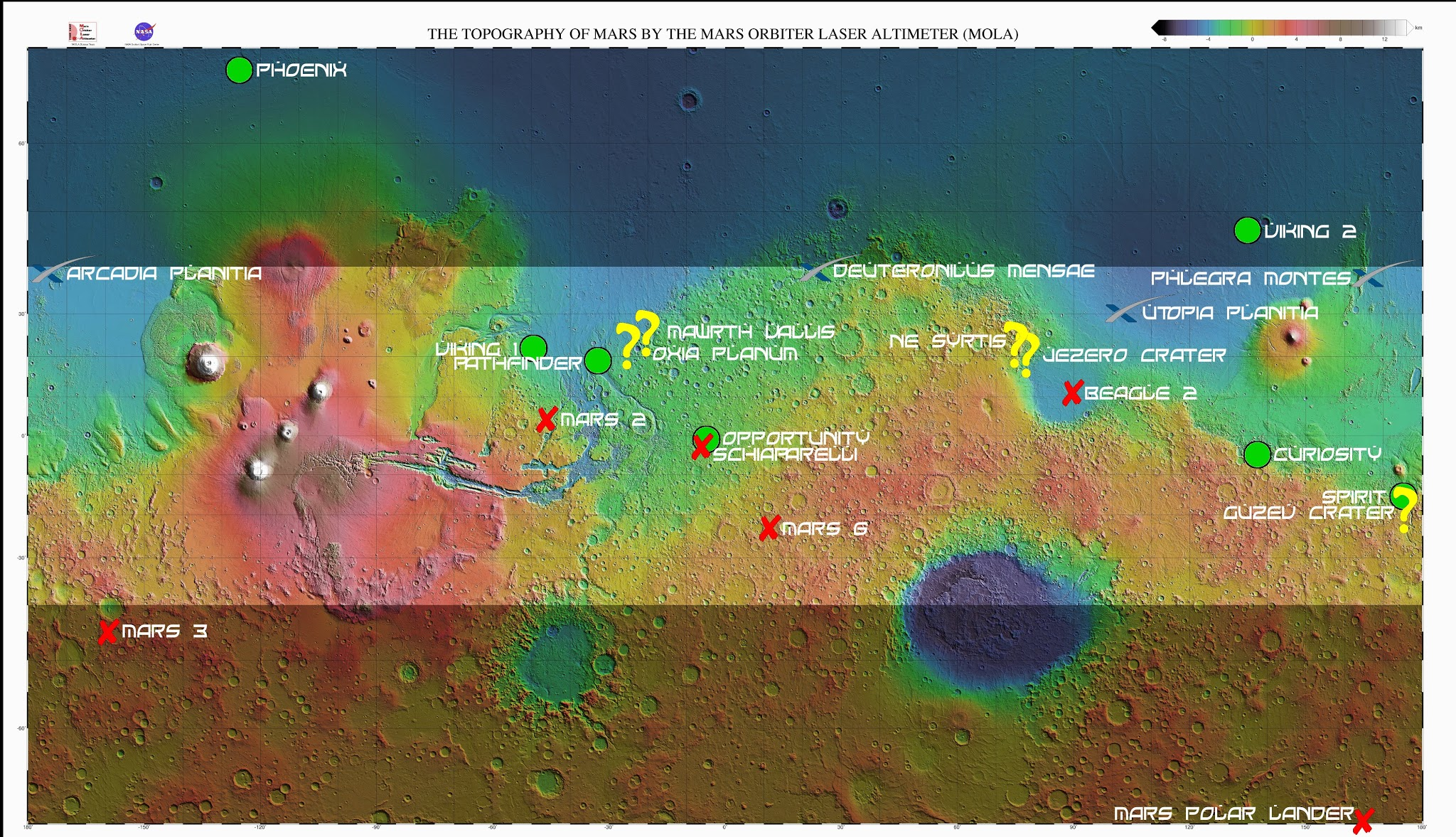 mars rover landing map - photo #8