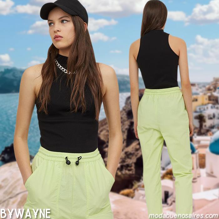 pantalones nauticos verano 2021 moda mujer