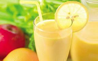 Boisson pomme, citron et pamplemousse pour perdre du poids