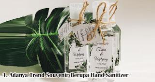Adanya Trend Souvenir Berupa Hand Sanitizer Di Era Pernikahan New Normal