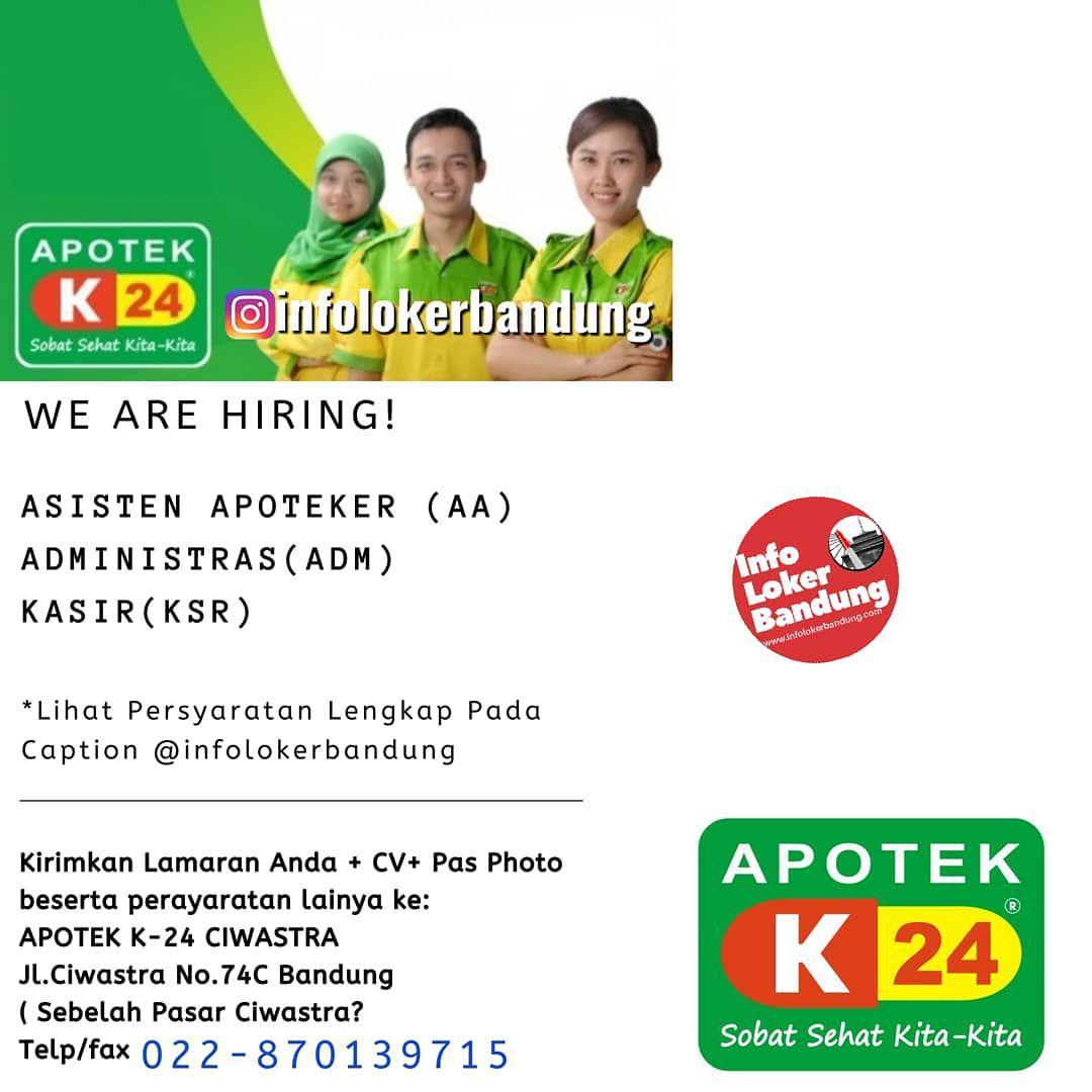 Lowongan Kerja Apotek K24 Ciwastra Bandung Oktober 2019