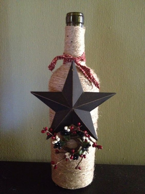 25 christmas decoration ideas with wine bottles do it for Christmas bottle decorations