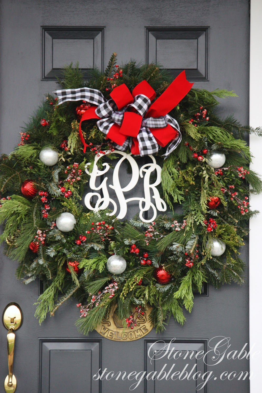 Christmas Door Stonegable