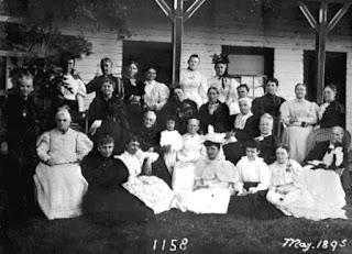 Members of the 1158 Literary Society pose for a group photo in 1895 in Orange City, Florida