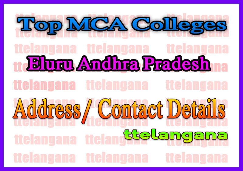 Top MCA Colleges in Eluru Andhra Pradesh