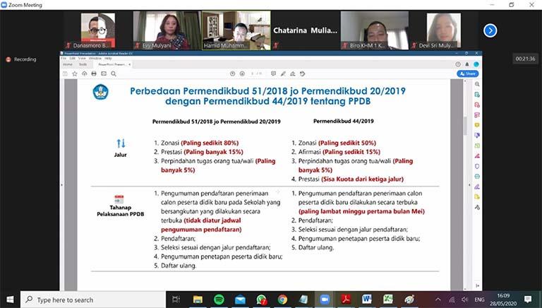 Kemendikbud Dorong Pemda Agar Terapkan PPDB 2020 Online